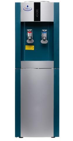 Кулер для воды c холодильником SMixx 16L-B/E голубой с серебром