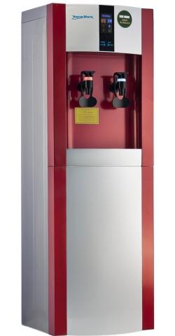 Кулер для воды Aqua Work 16LD/EN-ST серебристо красный