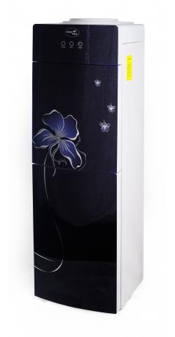 Кулер для воды напольный с компрессорным охлаждением Aqua Well 2-JX-5 ПК стекло синий