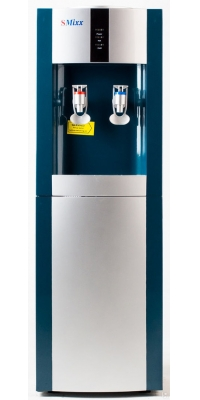 Кулер для воды электронный APEXCOOL 16 LD/E синий с серебром