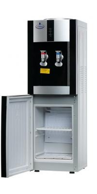 Кулер для воды c холодильником SMixx 16L-B/E черный с серебром.