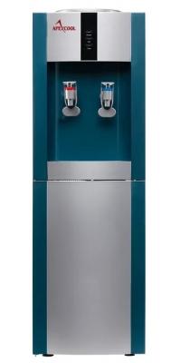 Кулер для воды c  APEXCOOL 16L/E голубой с серебром