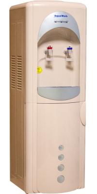 Кулер для воды с холодильником Aqua Work 28-L-B/B бежево-серебристый