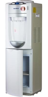 Кулер для воды со шкафчиком компрессорный Aqua Work 712-S-W  белый