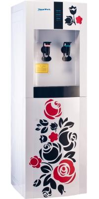 Кулер для воды электронный с апликацией Aqua Work 16-LD/EN white rose