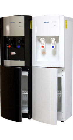 Кулер для воды напольный со шкафчиком Aqua Work V901 черный