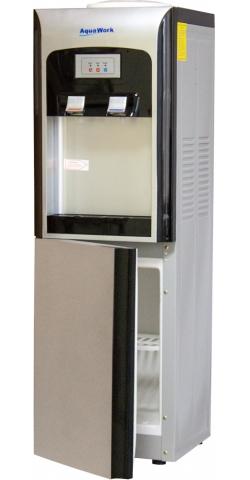 Кулер для воды напольный со шкафчиком Aqua Work V90 серебристый